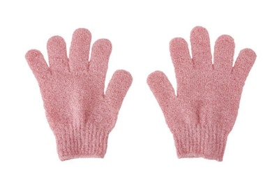 SOUL Self Care  Exfoliating and Cleansing Gloves in Pink 2021
