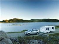 Jayco Discovery pop-top tows with wind-cheating profile