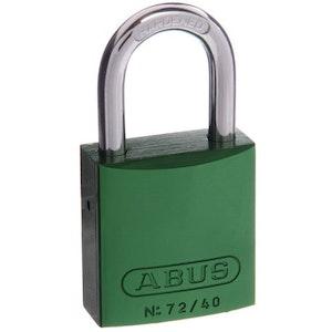ABUS Aluminium Padlock 72/40 in Green Keyed to Differ