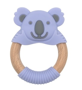 BibiLand BibiBaby Teething Ring - Kira Koala - Violet and Grey