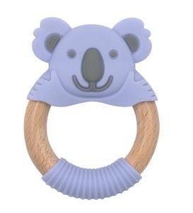 BibiLand BibiBaby Teething Ring - Kira Koala - Violet and Grey