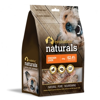 EVOLUTION NATURALS Chicken Liver Dog Treats 200G