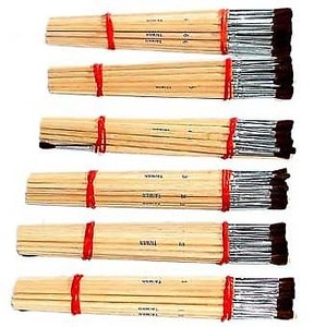 Touch Up Brushes 144 Brushes All Sizes 1- 6