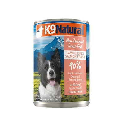 K9 Natural Lamb & King Salmon Feast Canned Dog Food 370G