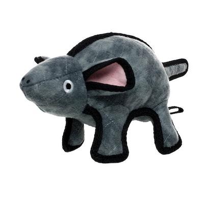 Tuffy Toys Tuffy Barnyard Series Mo The Grey Mouse Plush Dog Toy