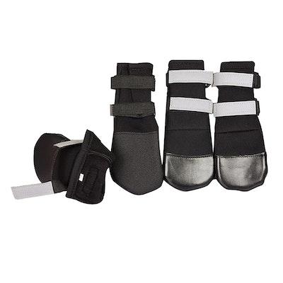 Zeez Dog Waterproof Boots Non-Slip Sole Dog Boots Black - 5 Sizes