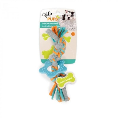 All For Paws Pups Multi Chew Sweater Rope