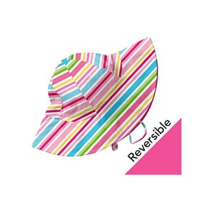 i play. Mix and Match Reversible Brim Sun Protection Hat-Pink Multistripe