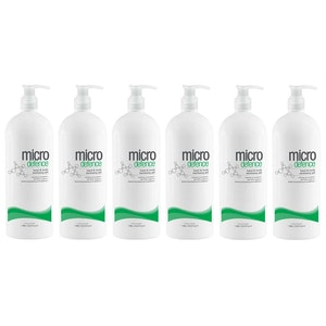 Caronlab Micro Defence Body / Hand Sanitiser Gel 1L - Kills 99.9% of Germs - Aus Made (6 Pack)