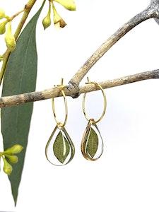 Eucalyptus Hoop Earrings