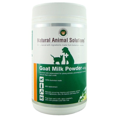 Natural Animal Solutions Nas Goat Milk Powder Young Animal Milk Replacement 400g