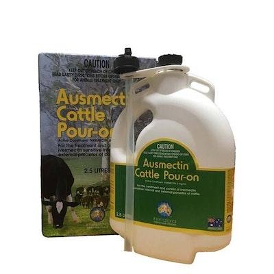 IAH Ausmectin Cattle Pour On Parasites Treatment & Control 2.5L