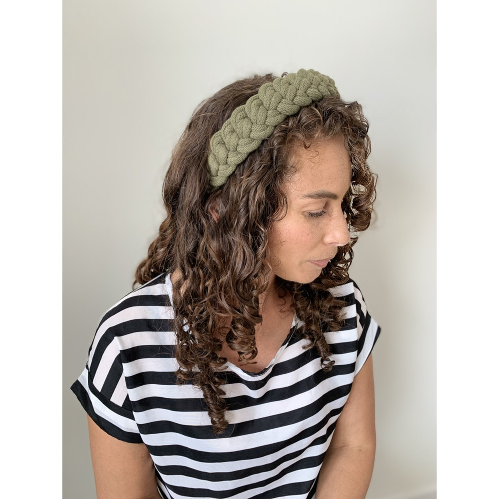 Form Norfolk Chunky Loop Knot Headband In Forest Green