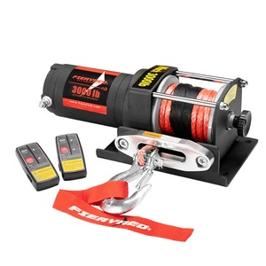 FIERYRED Wireless 3000lbs 1361kg 12V  Electric Winch Synthetic Rope ATV Boat