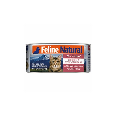 FELINE NATURAL Canned Chicken And Venison 85G