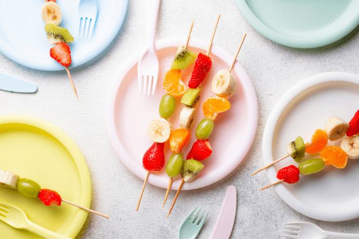 Obstspieße-Kindergeburtstag