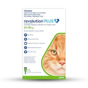 Revolution Plus Large Cats 5.1-10kg Green