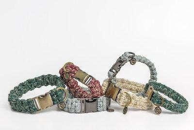 The Boho Pet Macramé Dog Collars - Signature Metallics Range