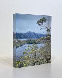 LAKE VIEW - Acrylic Desk Block