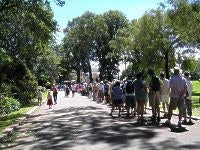 Guests queue for Government House