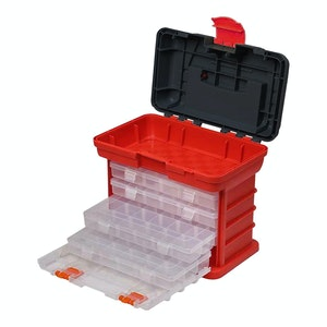 PK Tools Organiser Case 4 Removable Draws 97 Compartment