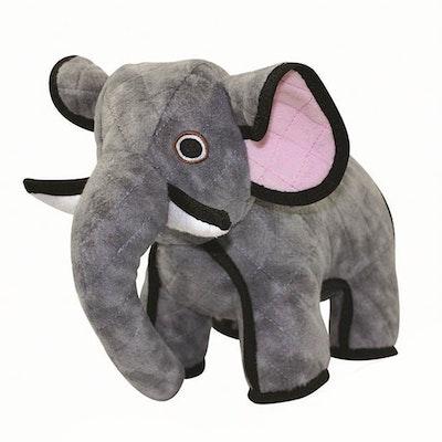 Tuffy Toys Tuffy Zoo Animal Series Emery Elephant Plush Dog Squeaker Toy