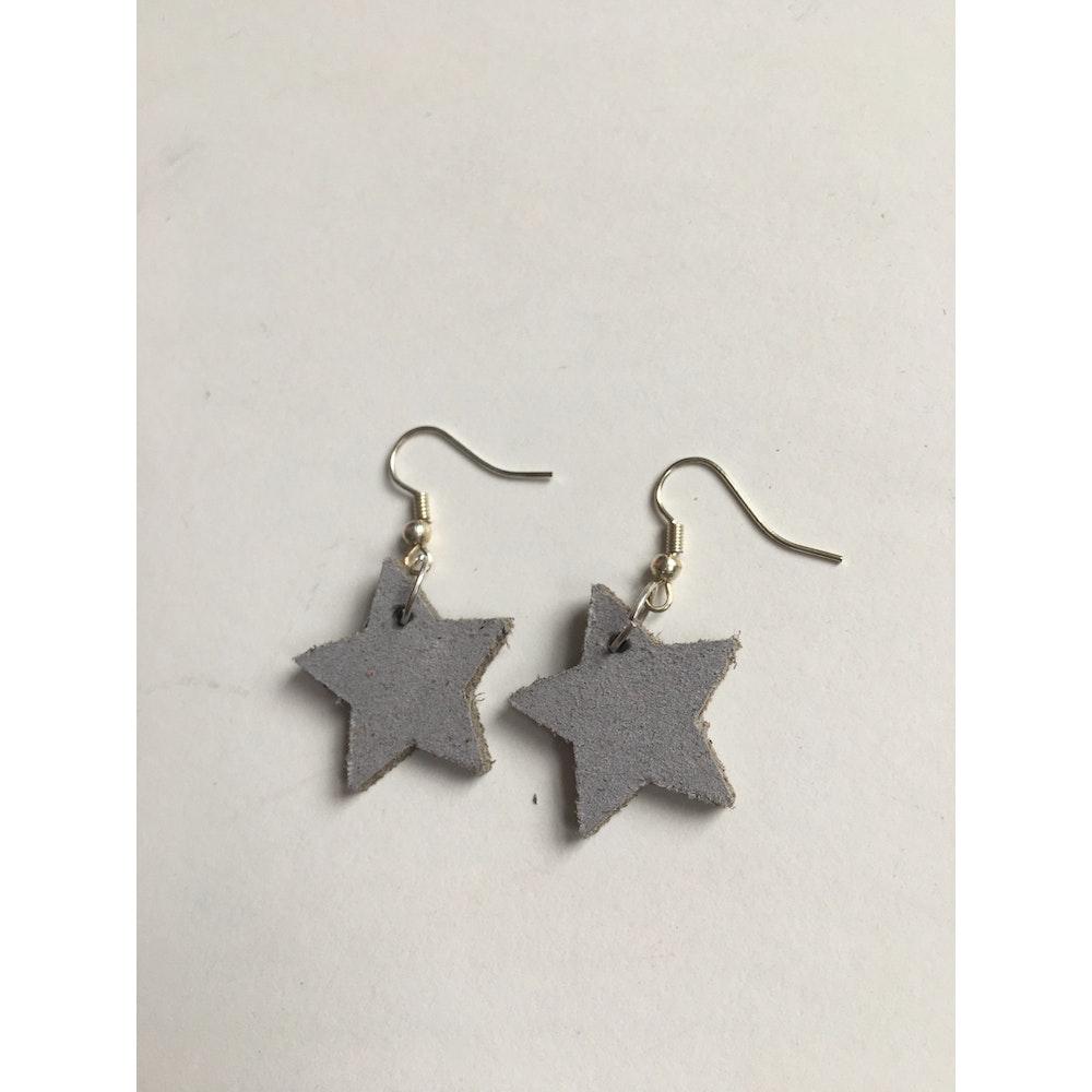 One of a Kind Club Light Grey Star Earrings