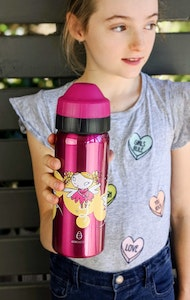 Ecococoon 500ml Drink Bottle - Spill-Free - Pink Fairy Stars