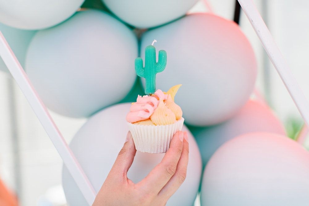 Cactus Candle Cupcake Occasion