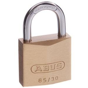 ABUS Brass Padlock 65/30 Keyed to Differ
