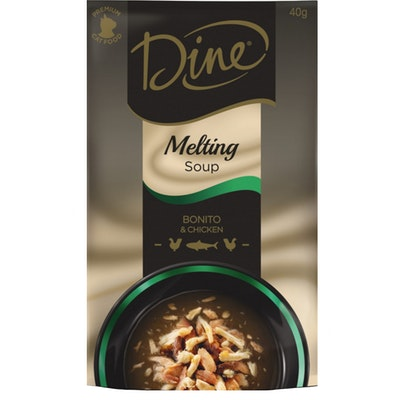 Dine Melting Soup Cat Food Bonito & Chicken 40g x 12