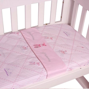 Babyhood Amani Bebe 3pce Cradle Sheet Set Ballerina Princess