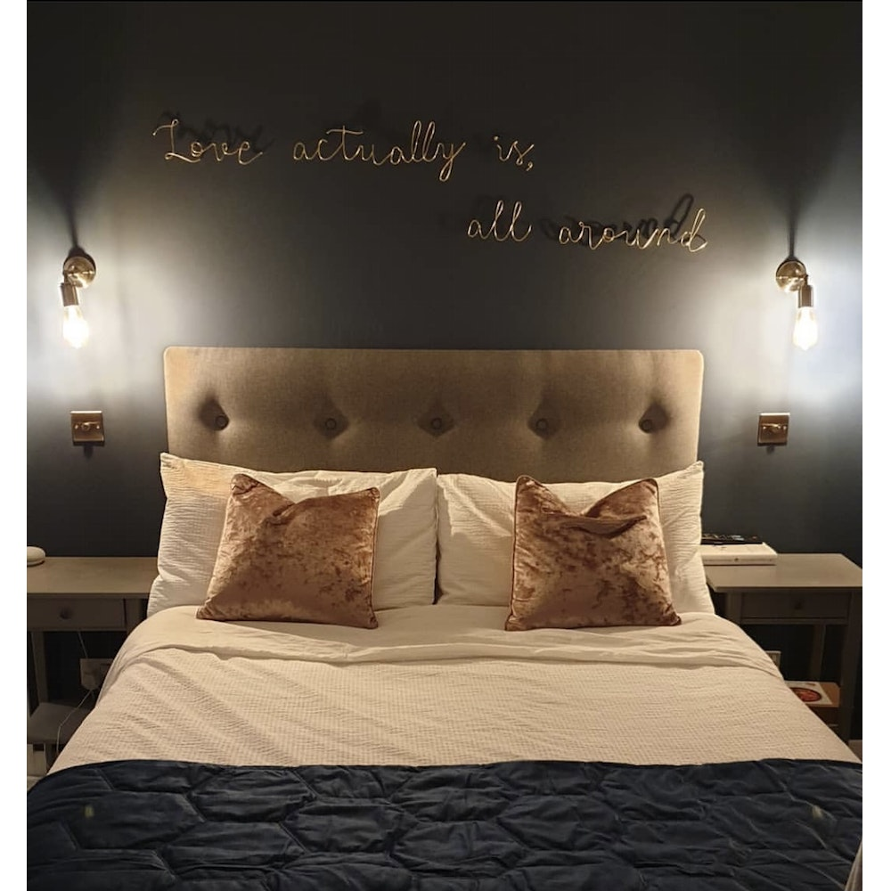 """Wired Mama """"love Actually Is All Around"""" Wall Mounted Three Dimensional Typography"""