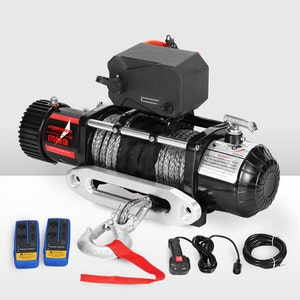 17500LBS Winch Wireless Synthetic Rope 12V Remote Atv 4WD