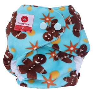 Snap In One Newborn Nappy: Gingerbread