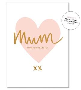 Mum peachy heart