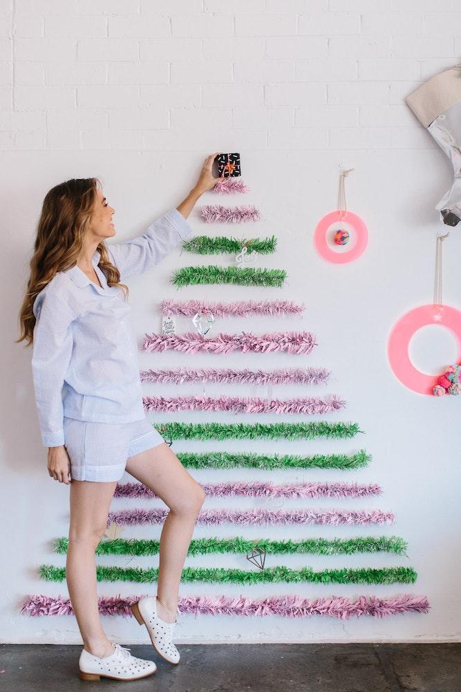 LENZO Haymes Paint Tinsel Christmas Tree DIY