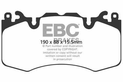 EBC ULTIMAX FRONT BRAKE PADS for RANGE ROVER SPORT *BREMBO*4/2013 ONWARD-DPX2064
