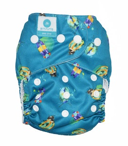 # One Size Fits Most PUL Nappy: Little Critters