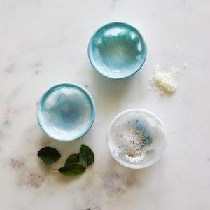 Resin Salt Bowl Set - Mineral Blue