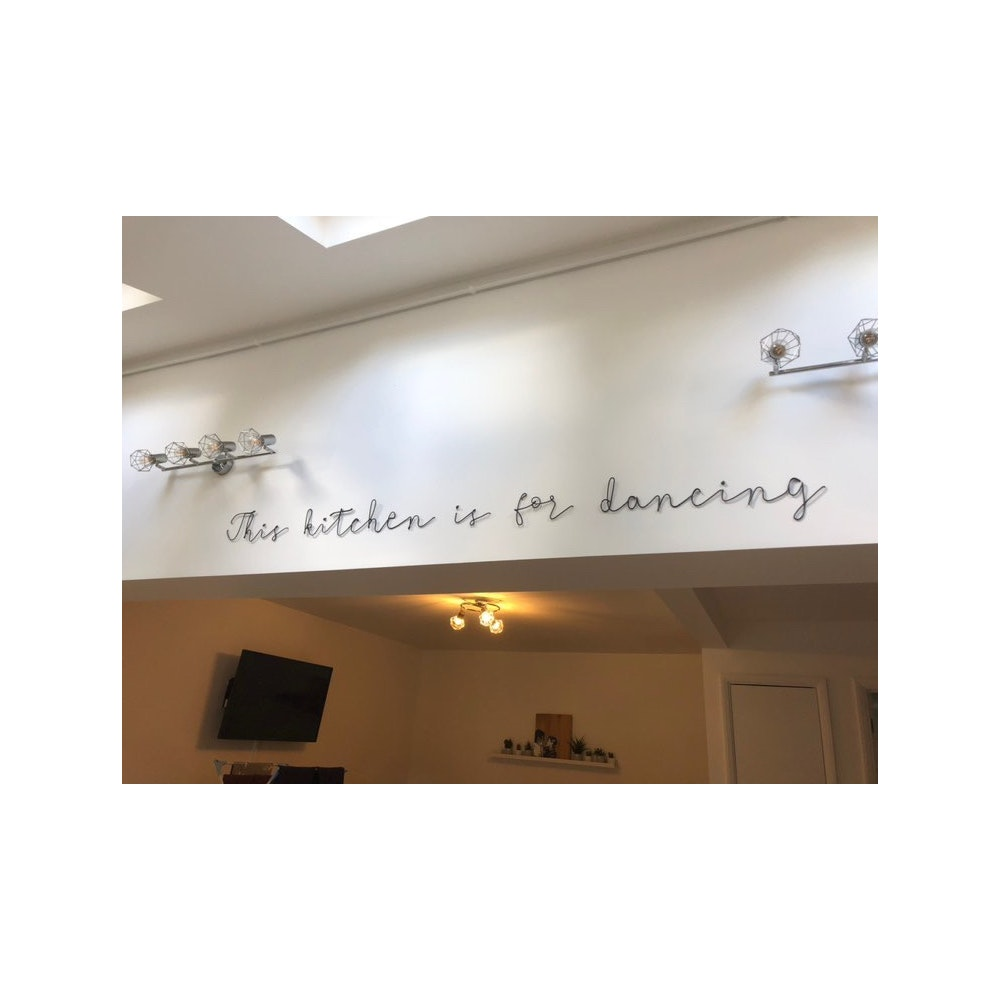 """Wired Mama """"this Kitchen Is For Dancing"""" Wall Mounted Three Dimensional Typography"""
