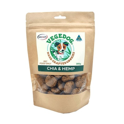 Vege Dog Cookies Chia & Hemp Dog Treats 300g
