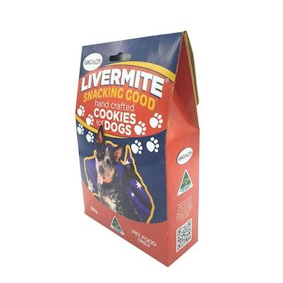 Livermite Cookies Box Dog Treats 250g