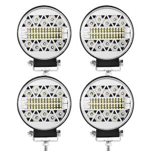 LIGHTFOX LIGHTFOX 4x 4inch Cree LED Work Light Round Spot Flood Driving Reverse Fog Lamp 4x4
