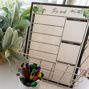 Magnet   Weekly Planner - Greenery Design (A3 Size)