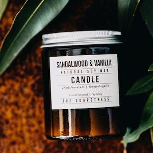 Amber Soy Candle - Sandalwood & Vanilla