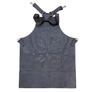 Boutique Medical BUFFALO LEATHER APRON Cooking Chef Hairdresser Waterproof Durable Quality - Brown