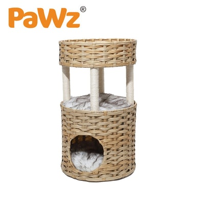 PaWz Pet Cat Bed Puppy House Sleeping Nest Calming Cushion Washable Non-toxic