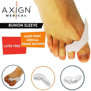 Boutique Medical 1 Pair Axign Medical Bunion Sleeve Separator Pain Relief Alignment