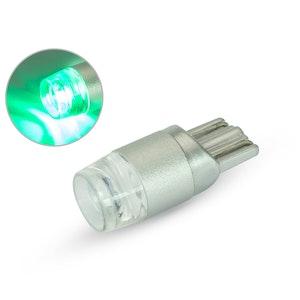 Single T10 W5W 12V LED Projector Bulb - Green